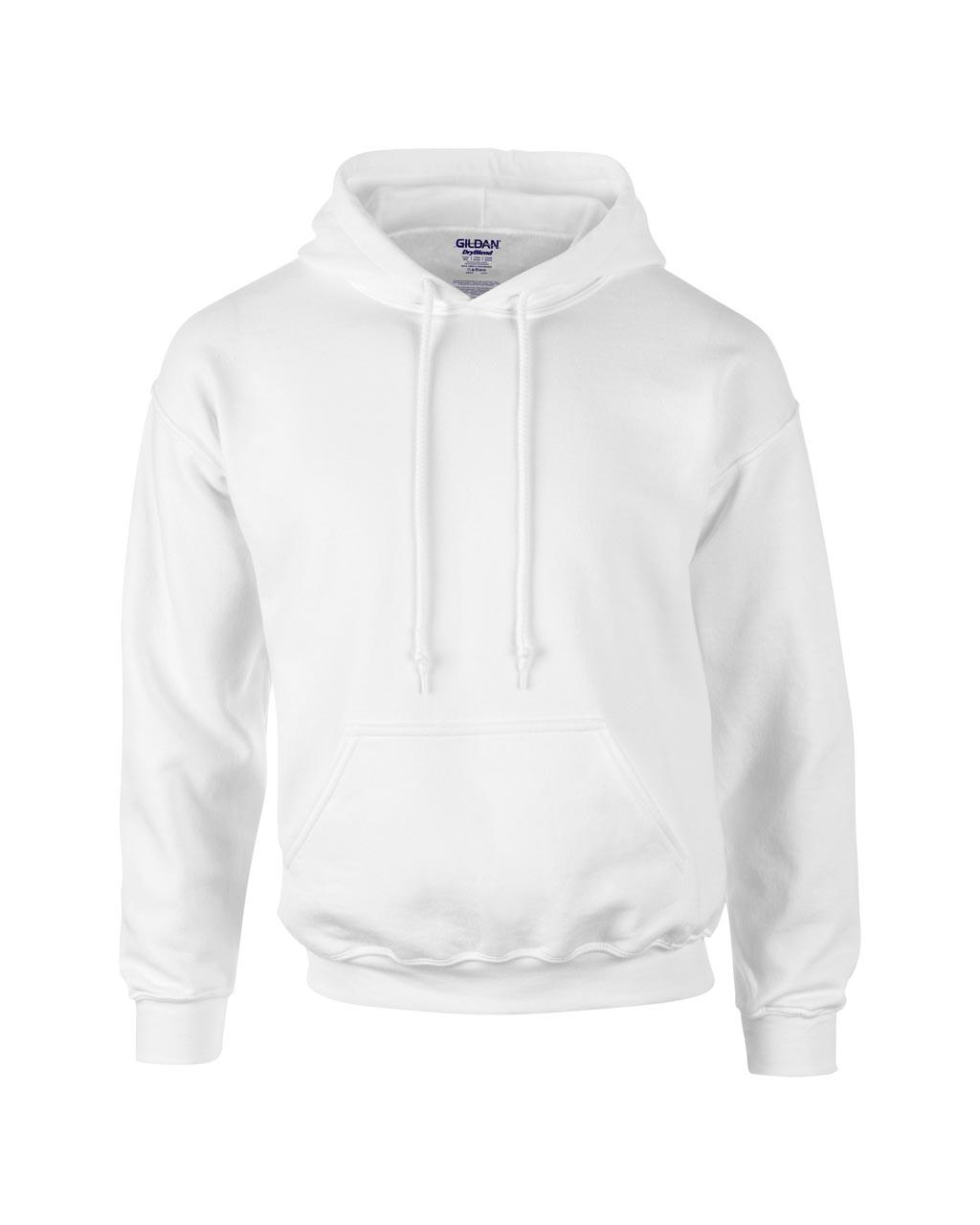 Uniszex fehér pulóver 50% pamut